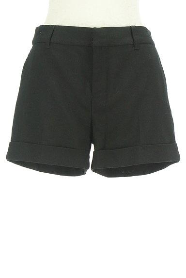 BLACK BY MOUSSY(ブラックバイマウジー)の古着「シンプルロールアップショートパンツ(ショートパンツ・ハーフパンツ)」大画像1へ