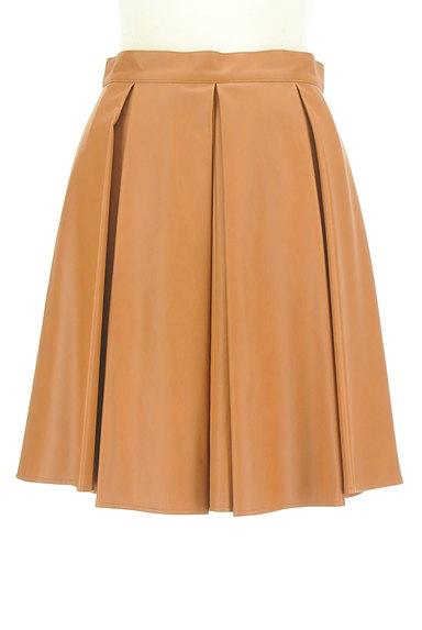 Viaggio Blu(ビアッジョブルー)の古着「タックレザーフレアスカート(スカート)」大画像1へ
