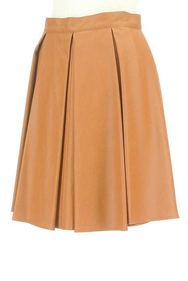 Viaggio Blu(ビアッジョブルー)の古着「タックレザーフレアスカート(スカート)」大画像3へ