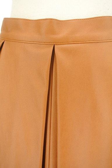 Viaggio Blu(ビアッジョブルー)の古着「タックレザーフレアスカート(スカート)」大画像4へ