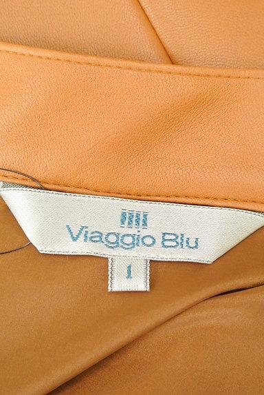 Viaggio Blu(ビアッジョブルー)の古着「タックレザーフレアスカート(スカート)」大画像6へ