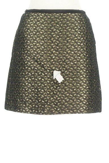 UNITED ARROWS(ユナイテッドアローズ)の古着「光沢フレアミニスカート(ミニスカート)」大画像4へ