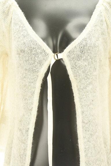 Rouge vif La cle(ルージュヴィフラクレ)の古着「ラメニットシアーカーディガン(カーディガン・ボレロ)」大画像4へ