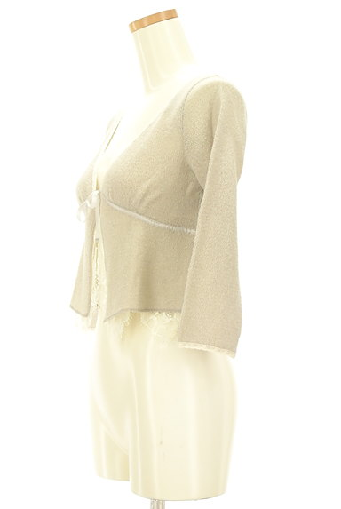 Rouge vif La cle(ルージュヴィフラクレ)の古着「レース&リボン7分袖カーディガン(カーディガン・ボレロ)」大画像3へ