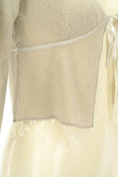 Rouge vif La cle(ルージュヴィフラクレ)の古着「レース&リボン7分袖カーディガン(カーディガン・ボレロ)」大画像5へ