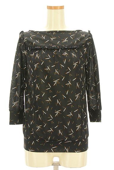 Rouge vif La cle(ルージュヴィフラクレ)の古着「フリルデザイン総柄カットソー(カットソー・プルオーバー)」大画像1へ