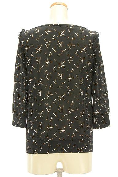 Rouge vif La cle(ルージュヴィフラクレ)の古着「フリルデザイン総柄カットソー(カットソー・プルオーバー)」大画像2へ