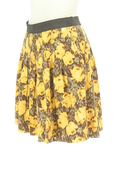 Rouge vif La cle(ルージュヴィフラクレ)の古着「総柄切替フレアミニスカート(ミニスカート)」大画像3へ