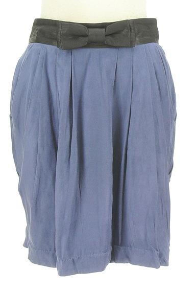 Rouge vif La cle(ルージュヴィフラクレ)の古着「ウエストリボンフレアスカート(ミニスカート)」大画像1へ