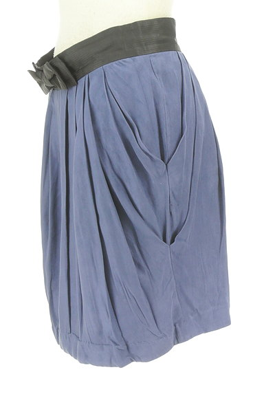 Rouge vif La cle(ルージュヴィフラクレ)の古着「ウエストリボンフレアスカート(ミニスカート)」大画像3へ
