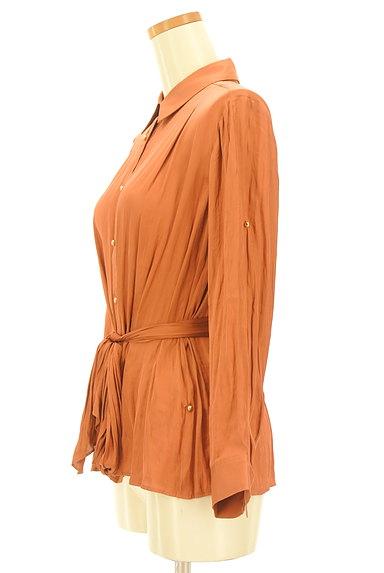 Rouge vif La cle(ルージュヴィフラクレ)の古着「ウエストマークロングカラーシャツ(カジュアルシャツ)」大画像3へ