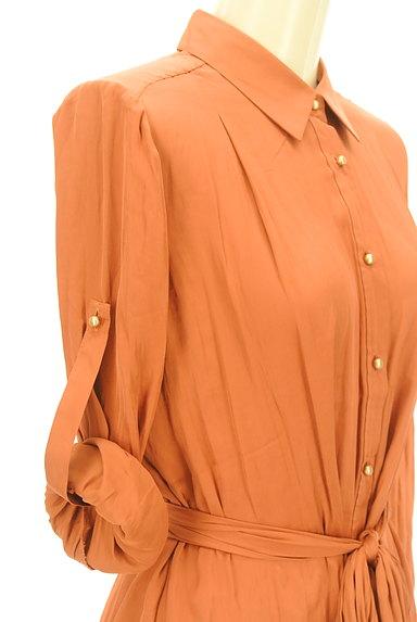 Rouge vif La cle(ルージュヴィフラクレ)の古着「ウエストマークロングカラーシャツ(カジュアルシャツ)」大画像4へ