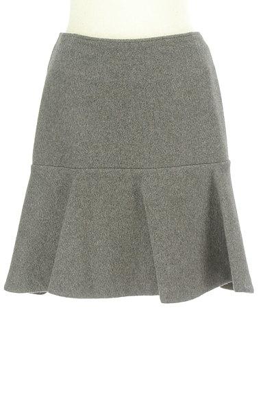 Rouge vif La cle(ルージュヴィフラクレ)の古着「ペプラムフリルウールミニスカート(ミニスカート)」大画像1へ