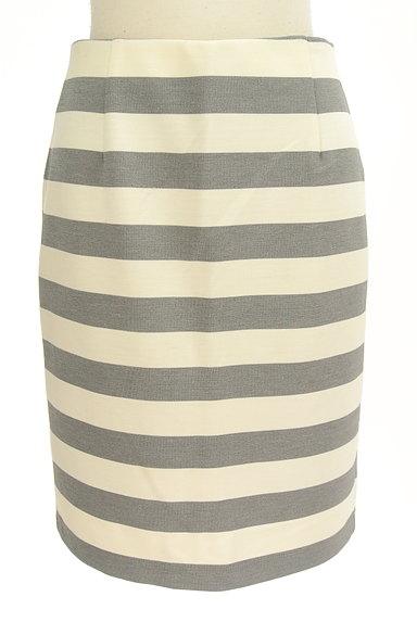 NATURAL BEAUTY BASIC(ナチュラルビューティベーシック)の古着「ボーダータイト膝丈スカート(スカート)」大画像1へ