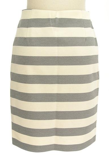 NATURAL BEAUTY BASIC(ナチュラルビューティベーシック)の古着「ボーダータイト膝丈スカート(スカート)」大画像2へ