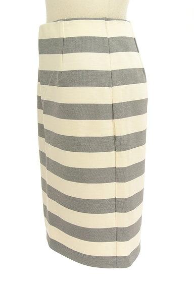 NATURAL BEAUTY BASIC(ナチュラルビューティベーシック)の古着「ボーダータイト膝丈スカート(スカート)」大画像3へ