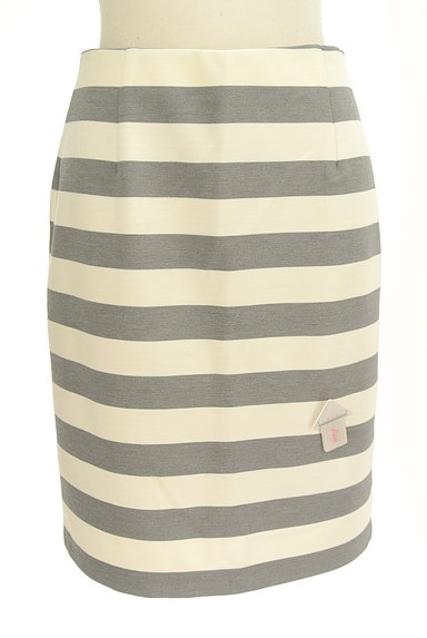 NATURAL BEAUTY BASIC(ナチュラルビューティベーシック)の古着「ボーダータイト膝丈スカート(スカート)」大画像4へ
