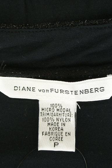 DIANE VON FURSTENBERG(ダイアンフォンファステンバーグ)の古着「ラメバイカラー切替カットソー(カットソー・プルオーバー)」大画像6へ