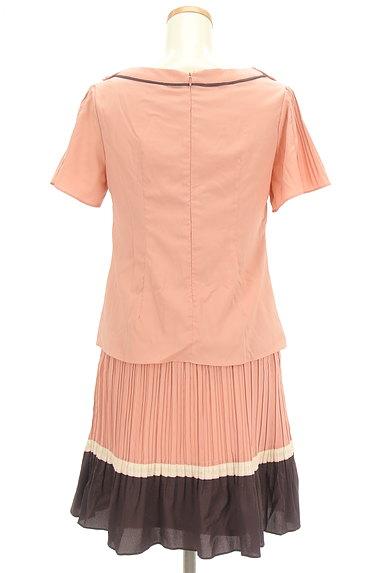WILLSELECTION(ウィルセレクション)の古着「バイカラープリーツセットアップ(セットアップ(ジャケット+スカート))」大画像2へ