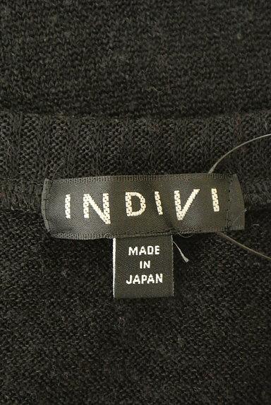 INDIVI(インディヴィ)の古着「千鳥柄バイカラーニット(ニット)」大画像6へ