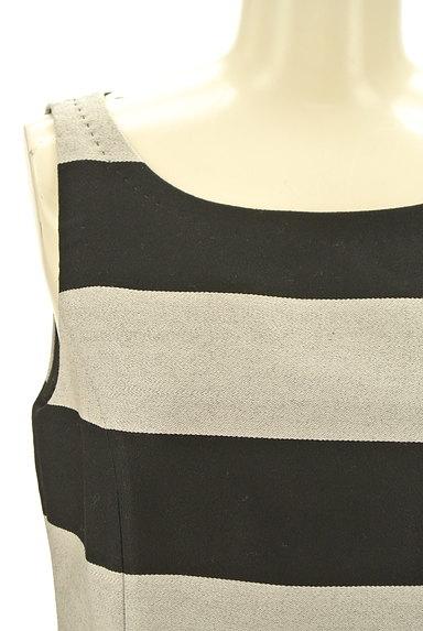 LE SOUK(ルスーク)の古着「ボーダー柄膝丈ワンピース(Tシャツ)」大画像4へ