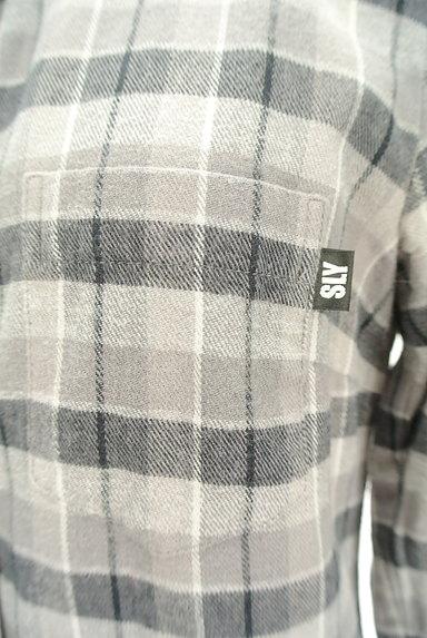 SLY(スライ)の古着「チェック柄フランネルシャツ(カジュアルシャツ)」大画像5へ