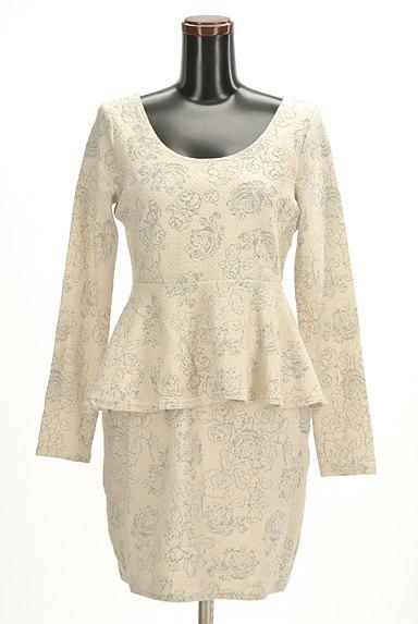 rienda(リエンダ)の古着「花柄ジャガードペプラムワンピース(ワンピース・チュニック)」大画像1へ