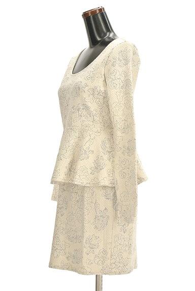 rienda(リエンダ)の古着「花柄ジャガードペプラムワンピース(ワンピース・チュニック)」大画像3へ