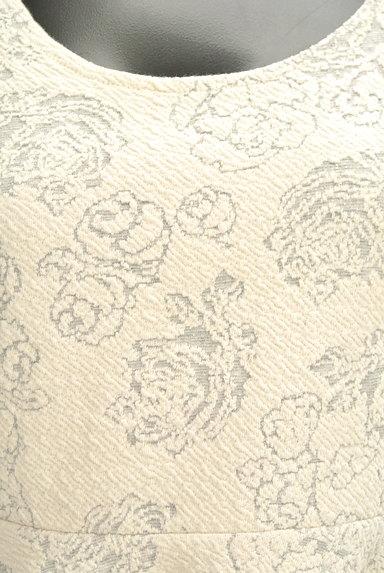 rienda(リエンダ)の古着「花柄ジャガードペプラムワンピース(ワンピース・チュニック)」大画像4へ