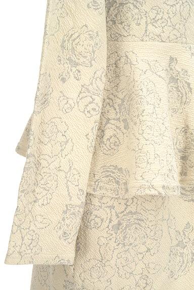 rienda(リエンダ)の古着「花柄ジャガードペプラムワンピース(ワンピース・チュニック)」大画像5へ