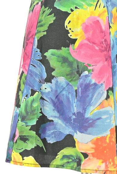 rienda(リエンダ)の古着「カラフル花柄フレアミニワンピース(キャミワンピース)」大画像5へ