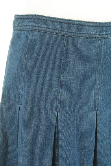 DIANE VON FURSTENBERG(ダイアンフォンファステンバーグ)の古着「タックプリーツデニムスカート(スカート)」大画像4へ