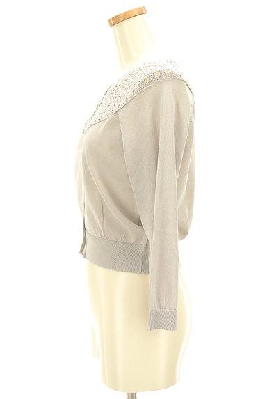 Laura Ashley(ローラアシュレイ)の古着「シアー襟ショートカーディガン(カーディガン・ボレロ)」大画像3へ