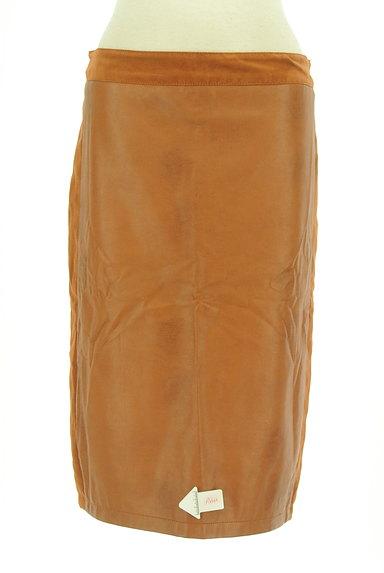 Laura Ashley(ローラアシュレイ)の古着「フェイクレザータイトスカート(スカート)」大画像4へ