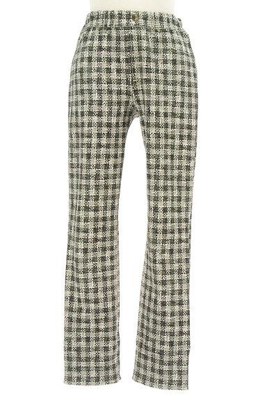 HIROKO BIS(ヒロコビス)の古着「プリントチェック柄ストレッチパンツ(パンツ)」大画像1へ
