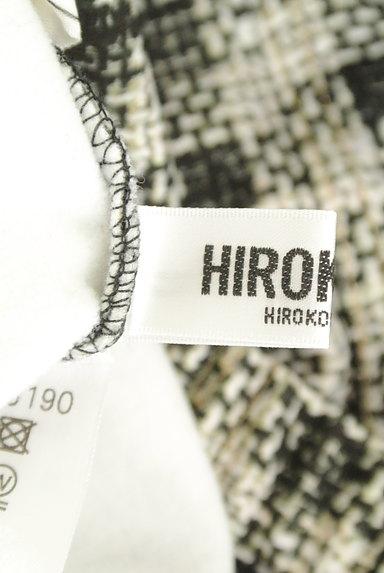 HIROKO BIS(ヒロコビス)の古着「プリントチェック柄ストレッチパンツ(パンツ)」大画像6へ