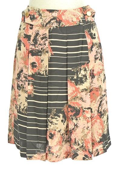 KATHARINE ROSS(キャサリンロス)の古着「花柄ボーダータックスカート(スカート)」大画像1へ