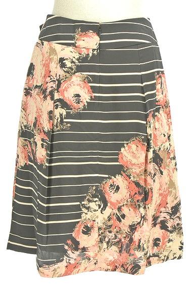KATHARINE ROSS(キャサリンロス)の古着「花柄ボーダータックスカート(スカート)」大画像2へ