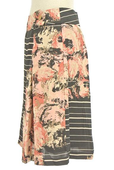 KATHARINE ROSS(キャサリンロス)の古着「花柄ボーダータックスカート(スカート)」大画像3へ