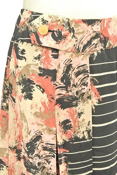 KATHARINE ROSS(キャサリンロス)の古着「花柄ボーダータックスカート(スカート)」大画像4へ
