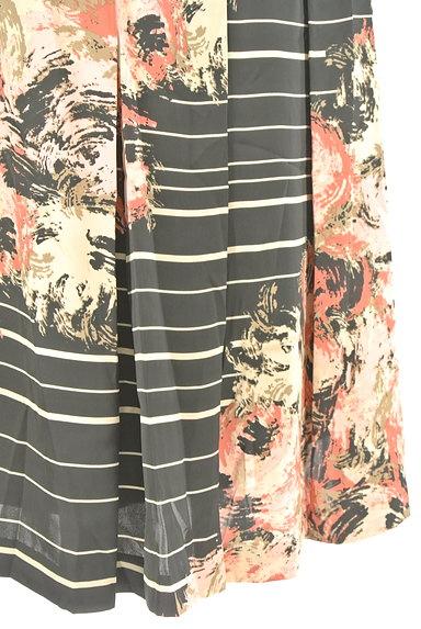 KATHARINE ROSS(キャサリンロス)の古着「花柄ボーダータックスカート(スカート)」大画像5へ
