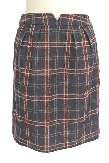 MISCH MASCH(ミッシュマッシュ)の古着「チェック柄ウールセミタイトスカート(スカート)」大画像1へ