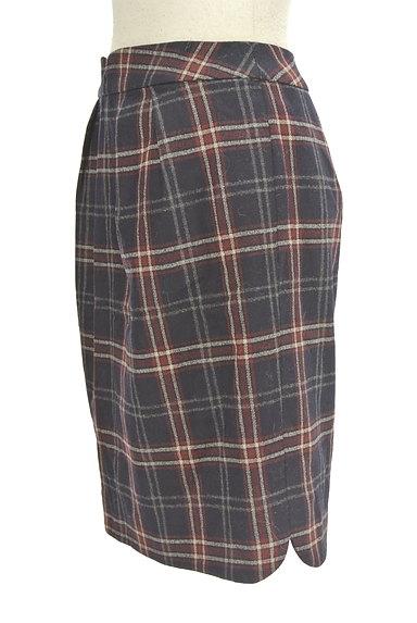 MISCH MASCH(ミッシュマッシュ)の古着「チェック柄ウールセミタイトスカート(スカート)」大画像3へ