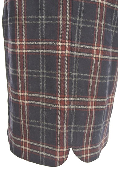 MISCH MASCH(ミッシュマッシュ)の古着「チェック柄ウールセミタイトスカート(スカート)」大画像5へ