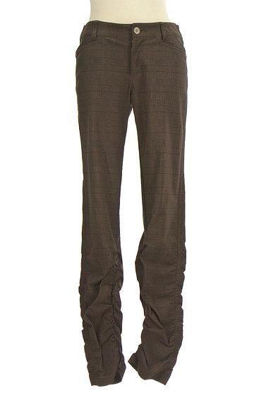 MK MICHEL KLEIN(エムケーミッシェルクラン)の古着「シャーリングチェック柄パンツ(パンツ)」大画像1へ