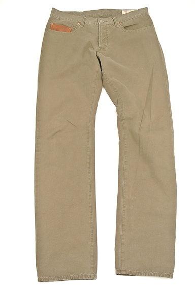 Adam et Rope(アダムエロペ)の古着「革ポケットストレートパンツ(パンツ)」大画像1へ