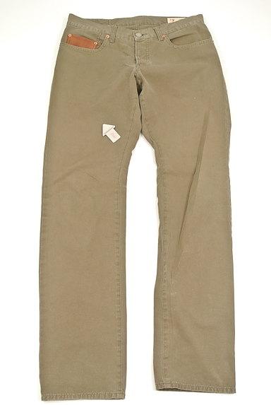Adam et Rope(アダムエロペ)の古着「革ポケットストレートパンツ(パンツ)」大画像3へ