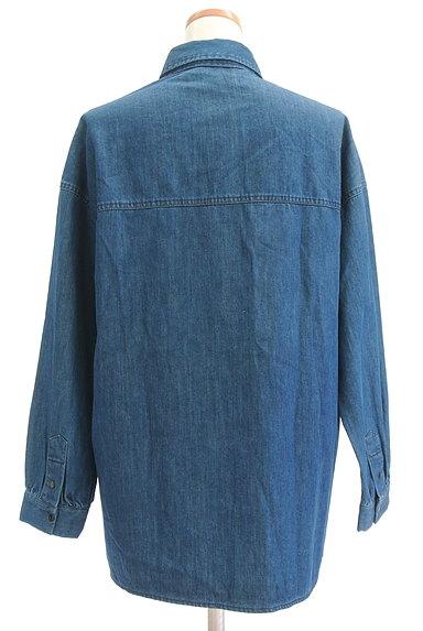 EMODA(エモダ)の古着「フリンジデニムシャツ(カジュアルシャツ)」大画像2へ
