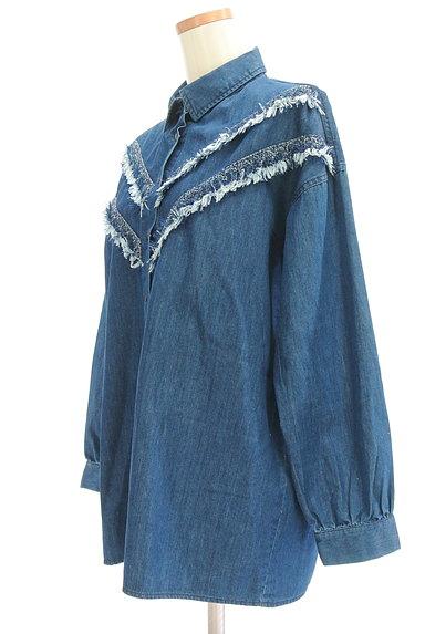 EMODA(エモダ)の古着「フリンジデニムシャツ(カジュアルシャツ)」大画像3へ