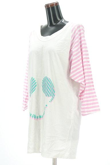 mercibeaucoup(メルシーボークー)の古着「袖ボーダーカットソーワンピース(ワンピース・チュニック)」大画像3へ
